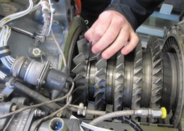 T53 Engine Compressor Inspection