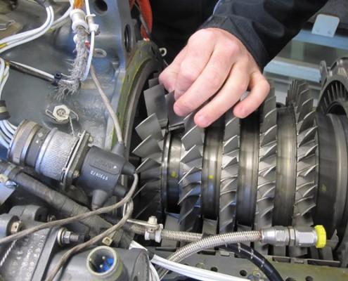 T53 Engine Compressor Inspection